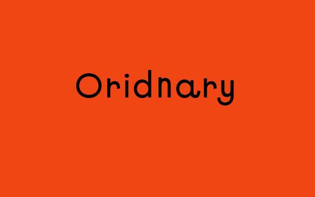 Screenshot of Oridnary