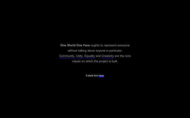 Screenshot of Oneworldoneface