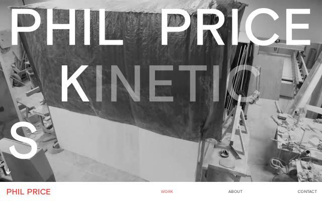 Screenshot of Philpricesculpture