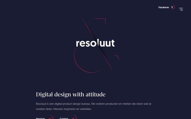 Screenshot of Resoluut
