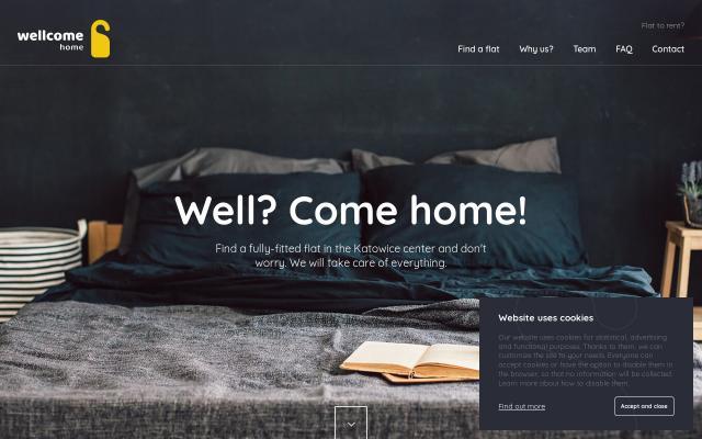 Screenshot of Wellcome-home