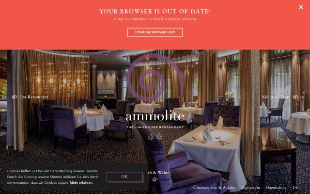 Screenshot of Ammolite-restaurant