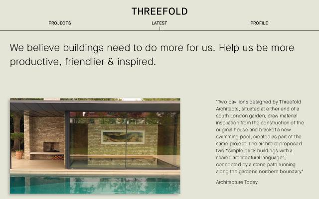 Screenshot of Threefoldarchitects