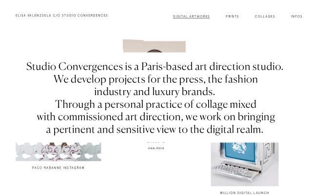 Screenshot of Studioconvergences