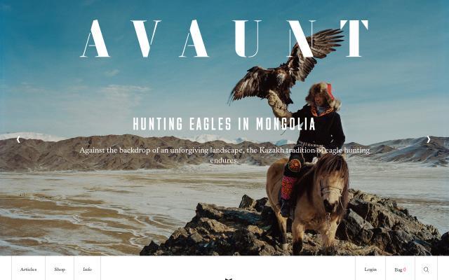 Screenshot of Avauntmagazine