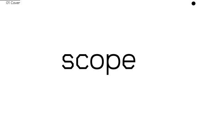 Screenshot of Scope-typeface