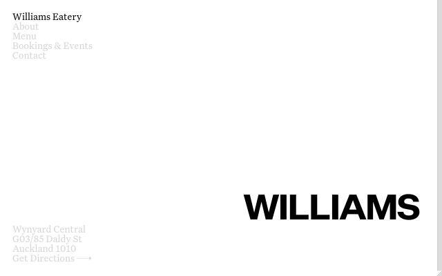 Screenshot of Williamseatery