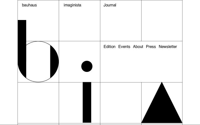 Screenshot of Bauhaus-imaginista