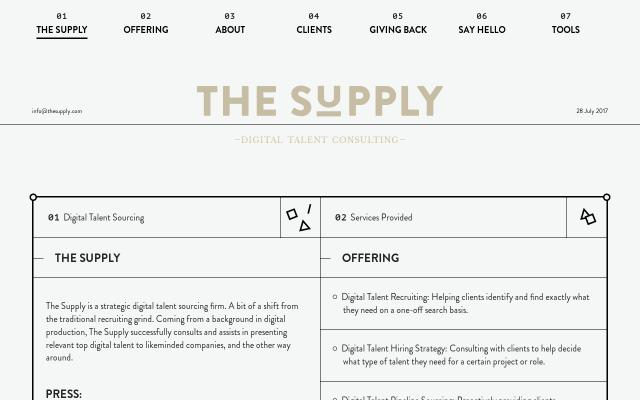 Screenshot of Thesupply