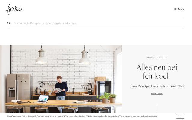 Screenshot of Feinkoch