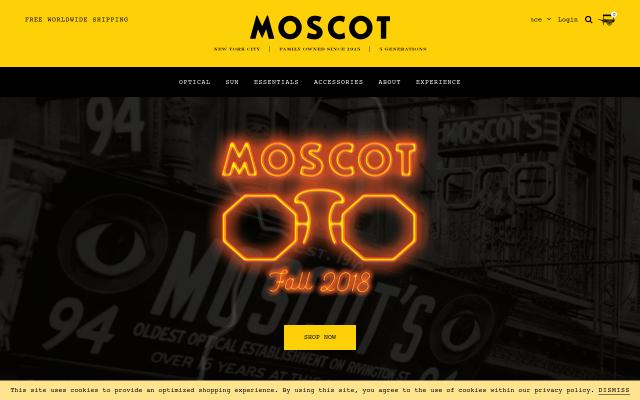 Screenshot of Moscot