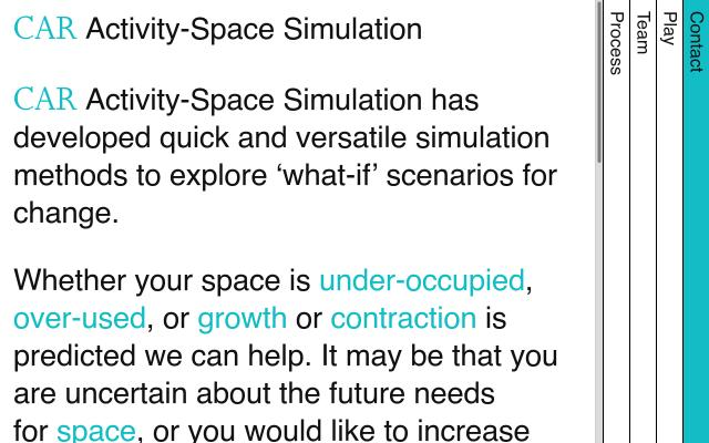 Screenshot of Activity-spacesimulation