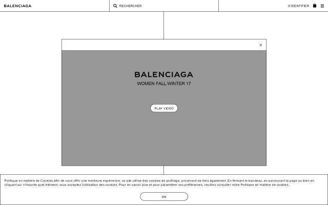Screenshot of Balenciaga