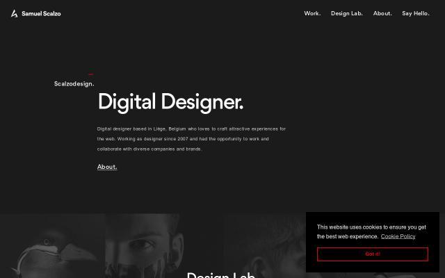 Screenshot of Scalzodesign