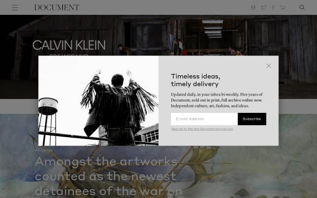 Screenshot of Documentjournal