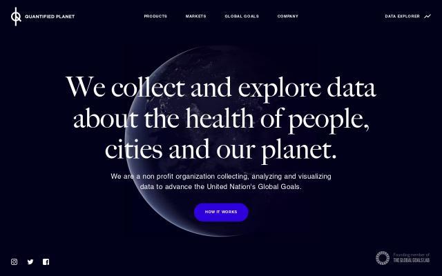 Screenshot of Quantifiedplanet