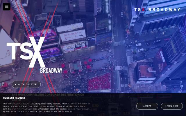 Screenshot of Tsxbroadway