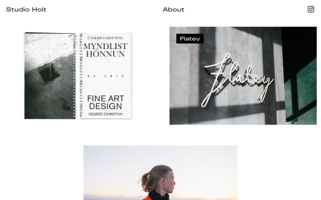 Screenshot of Studioholt