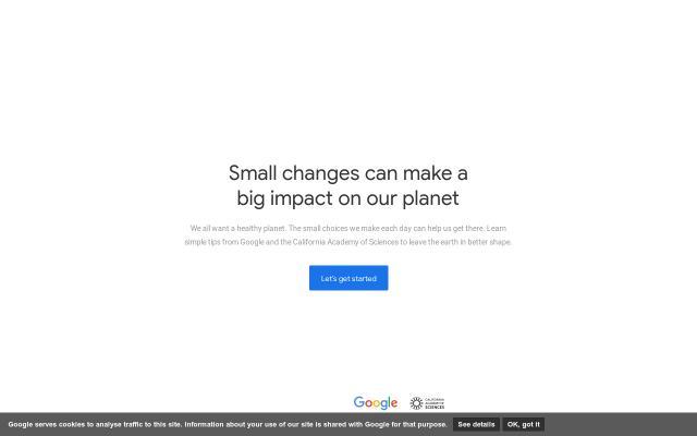 Screenshot of Sustainability