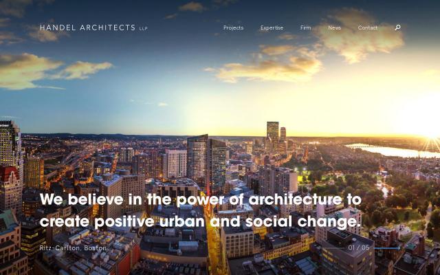 Screenshot of Handelarchitects