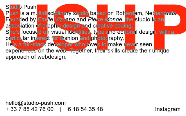 Screenshot of Studio-push