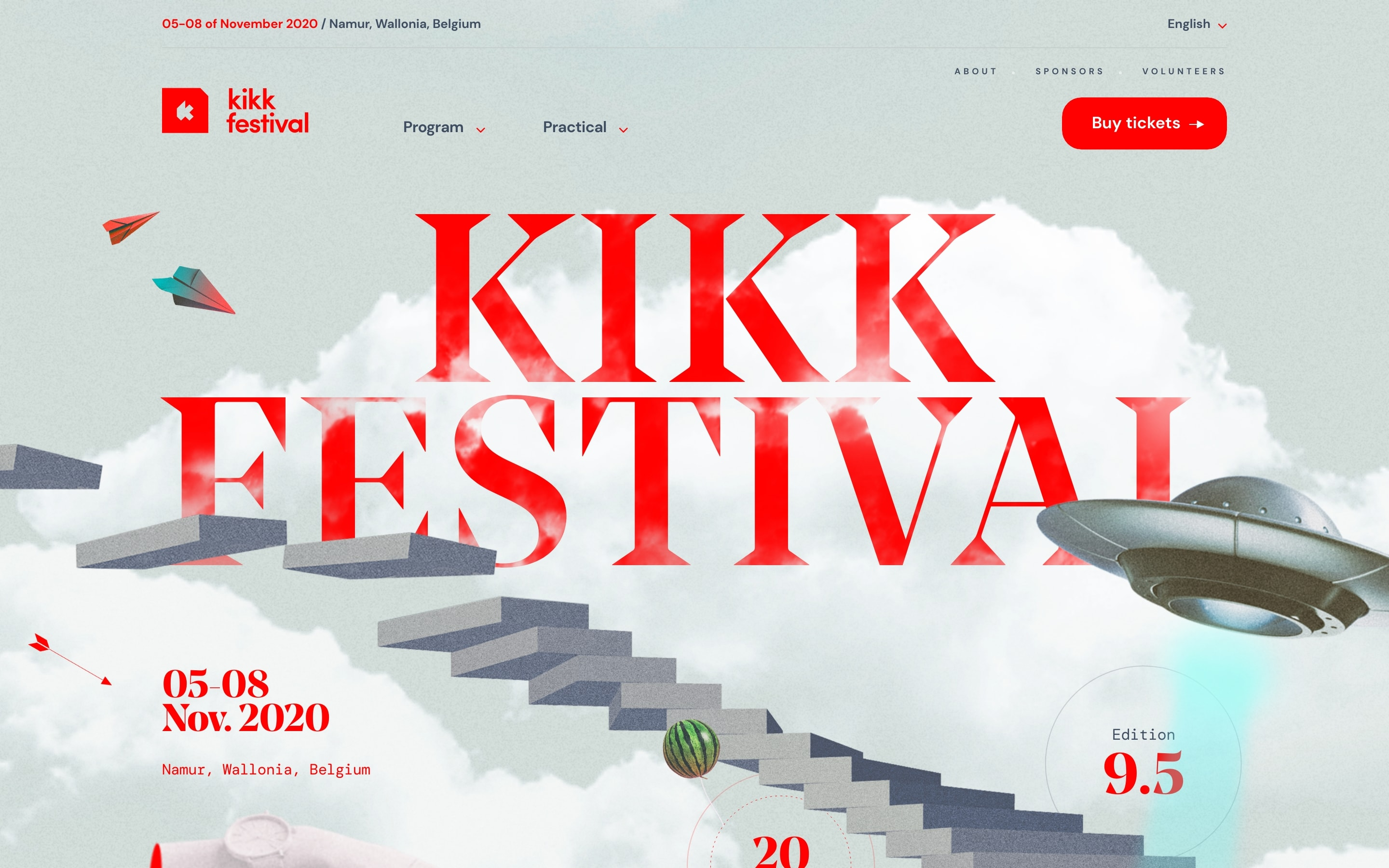 Screenshot of KIKK Festival 2020