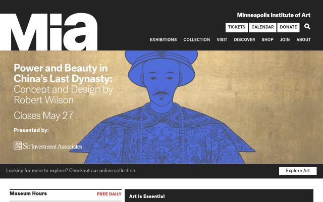 Screenshot of Artsmia