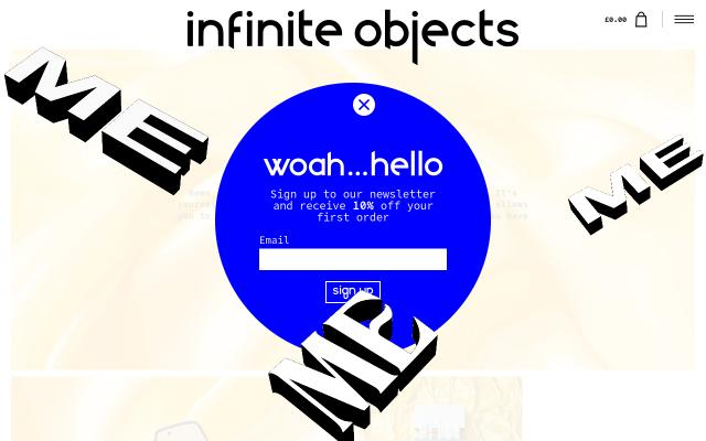 Screenshot of Infiniteobjects