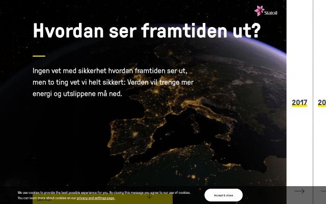 Screenshot of Statoil