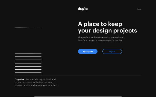 Screenshot of Drafta