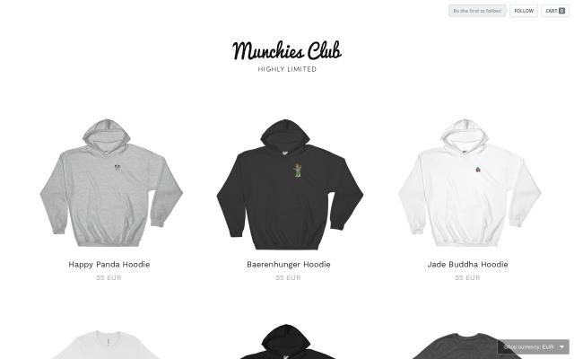 Screenshot of Munchies-club