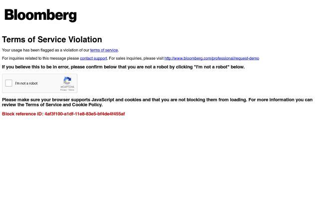 Screenshot of Bloomberg