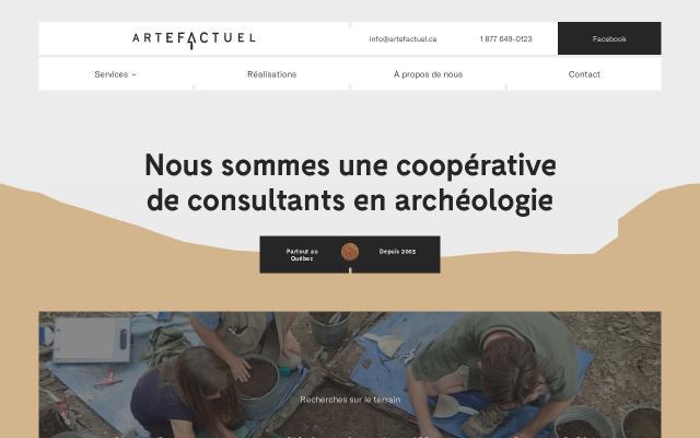 Screenshot of Artefactuel