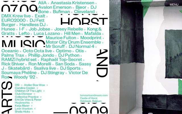 Screenshot of Horstartsandmusic