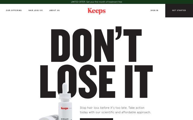 Screenshot of Keeps