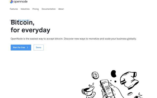 Screenshot of Opennode
