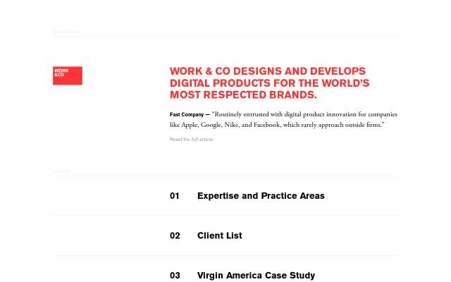 Screenshot of Work & Co