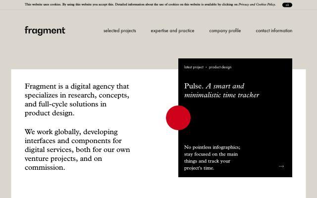 Screenshot of Fragment