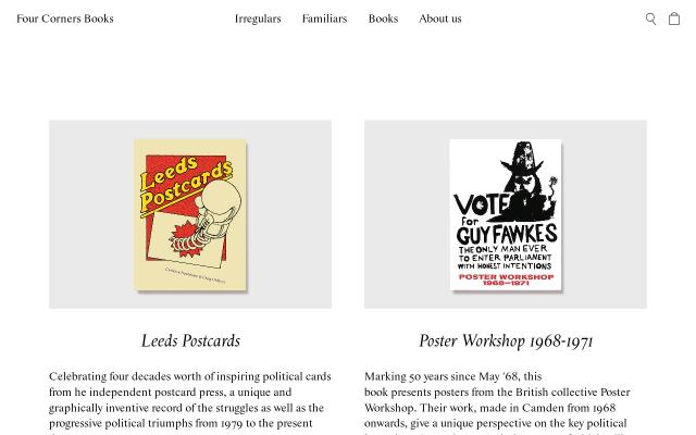 Screenshot of Fourcornersbooks