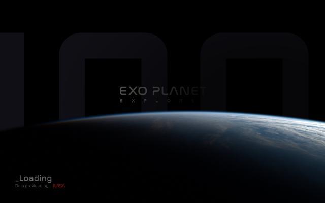 Screenshot of Exoplanet-explorer