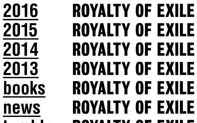 Screenshot of Royaltyofexile