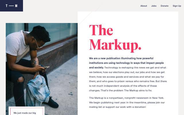 Screenshot of Themarkup