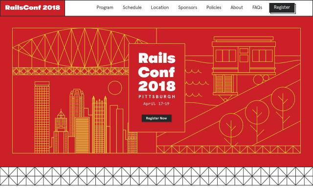 Screenshot of Railsconf