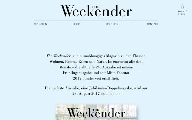 Screenshot of The-weekender