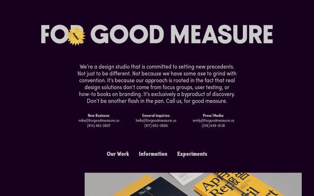 Screenshot of Forgoodmeasure