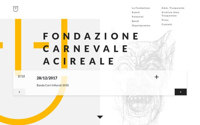 Screenshot of Fondazionecarnevaleacireale