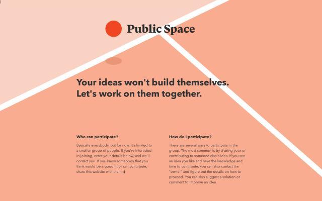 Screenshot of Publicspace