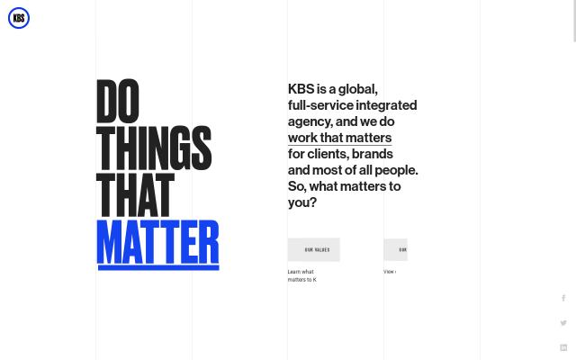 Screenshot of Kbsagency