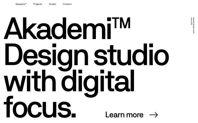 Screenshot of Studioakademi