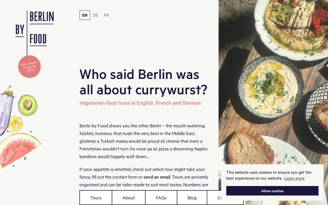Screenshot of Berlinbyfood